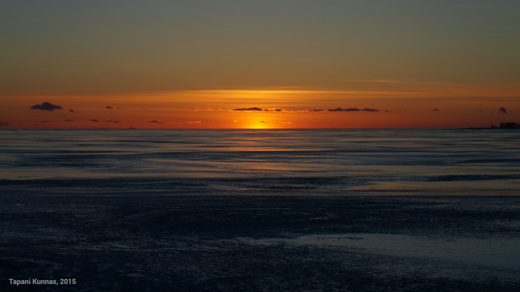Hetki auringonlaskun jälkeen.