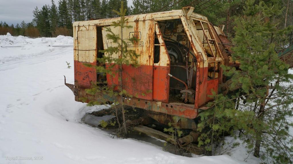 50-luvulla valmistetun koneen konttori on ollut karu työpaikka.