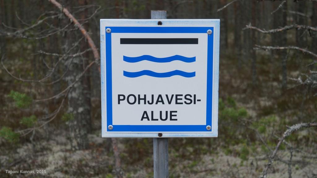 Pohjavesialue on hyvin merkitty.