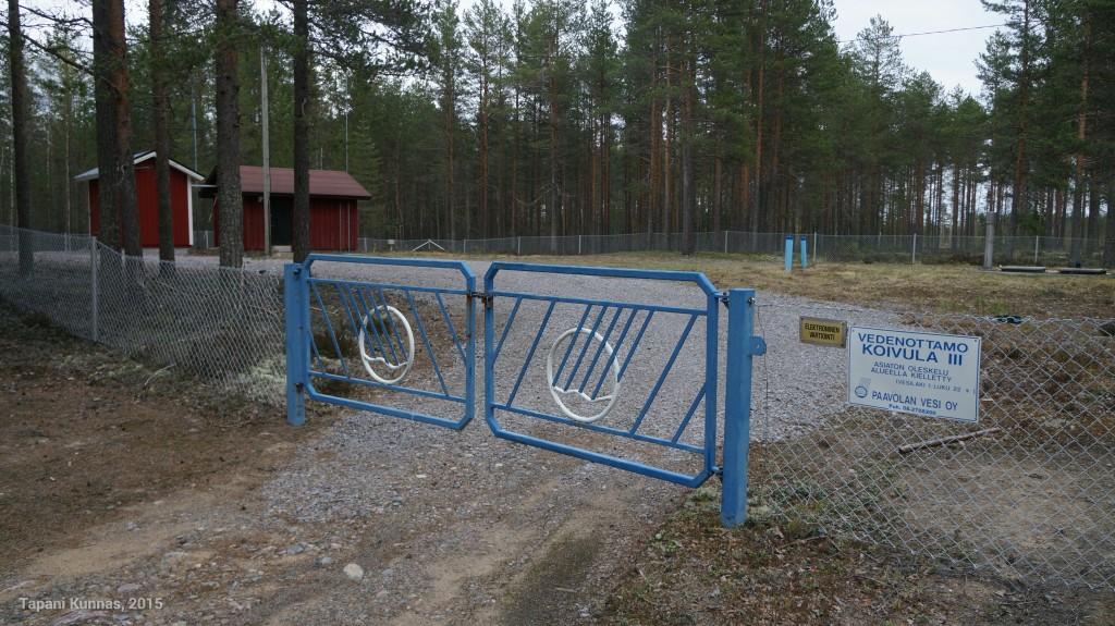 Paavolan Vesi Oy:n vedenottamoissa on hienot portit.
