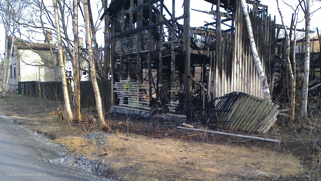 Limmin talosta ei tulipalossa jäänyt paljoa jäljelle.