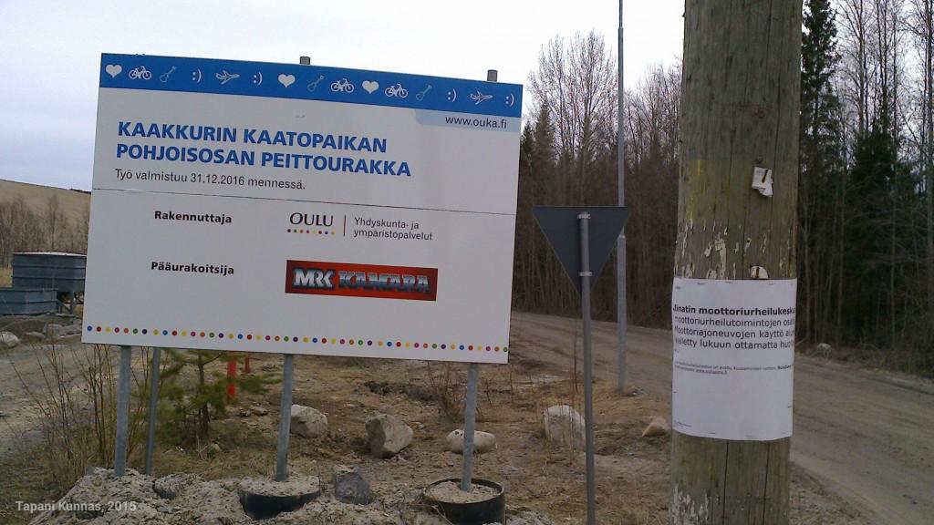 Entinen kaatopaikka ja entinen moottoriurheilukeskus.