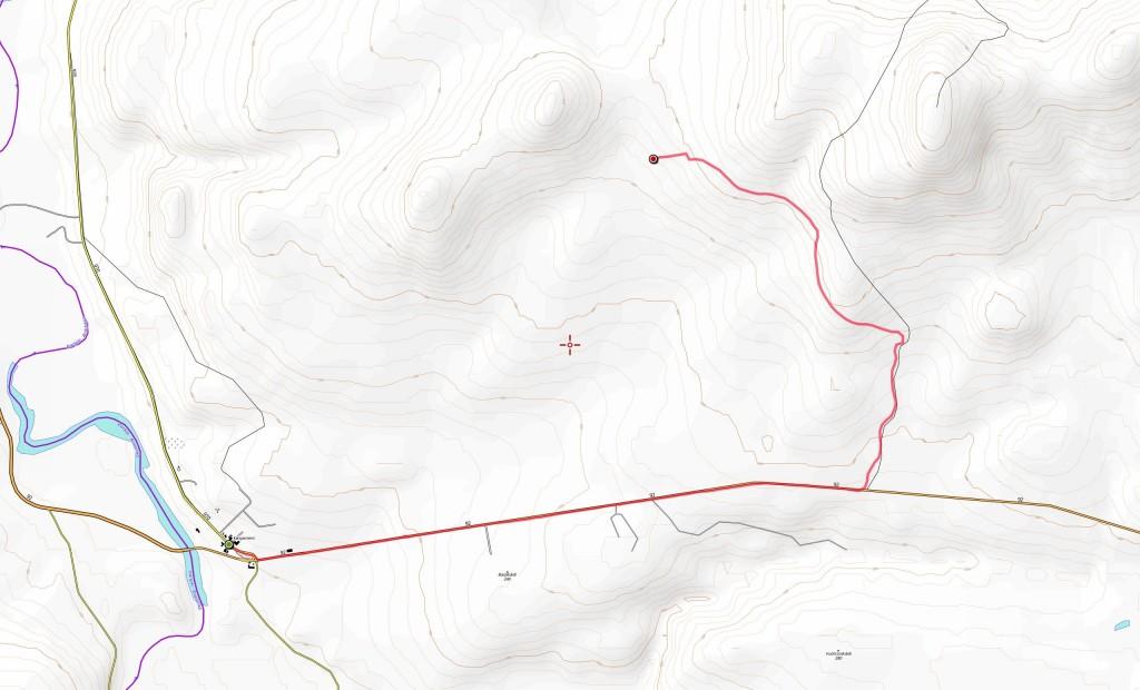 Ensimmäisen päivän reitti (8,9 km).
