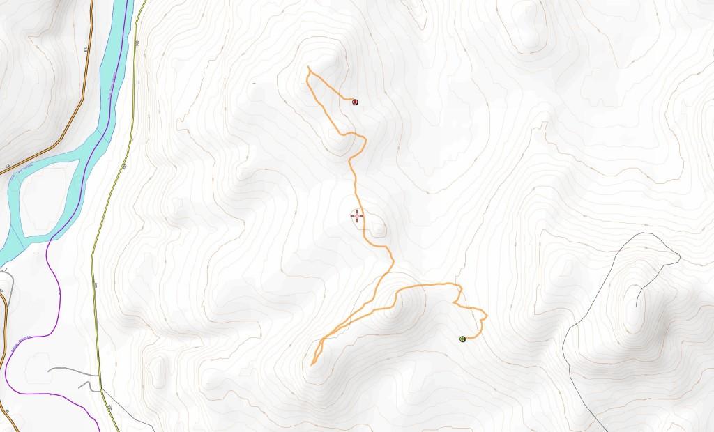 Toisen päivän reitti (9,0 km).