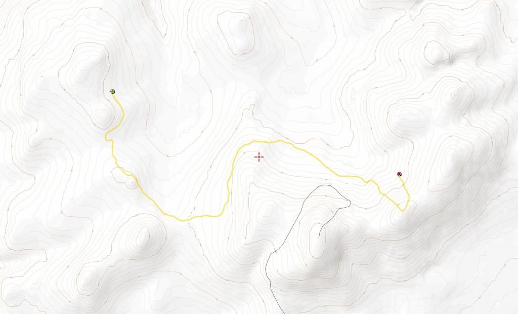Kolmannen päivän reitti (8,9 km).
