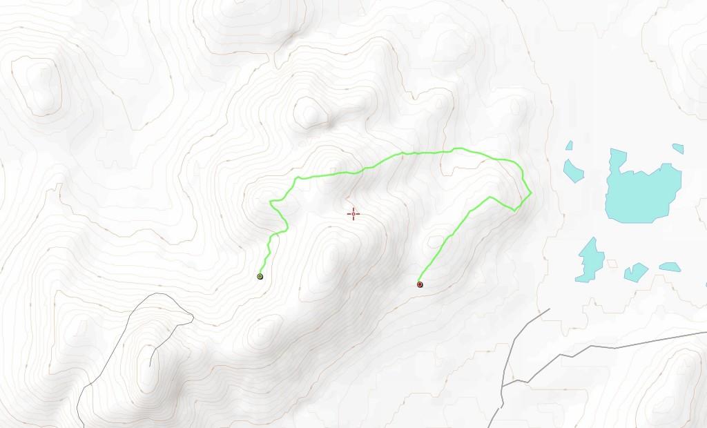 Neljännen päivän reitti (6,9 km).