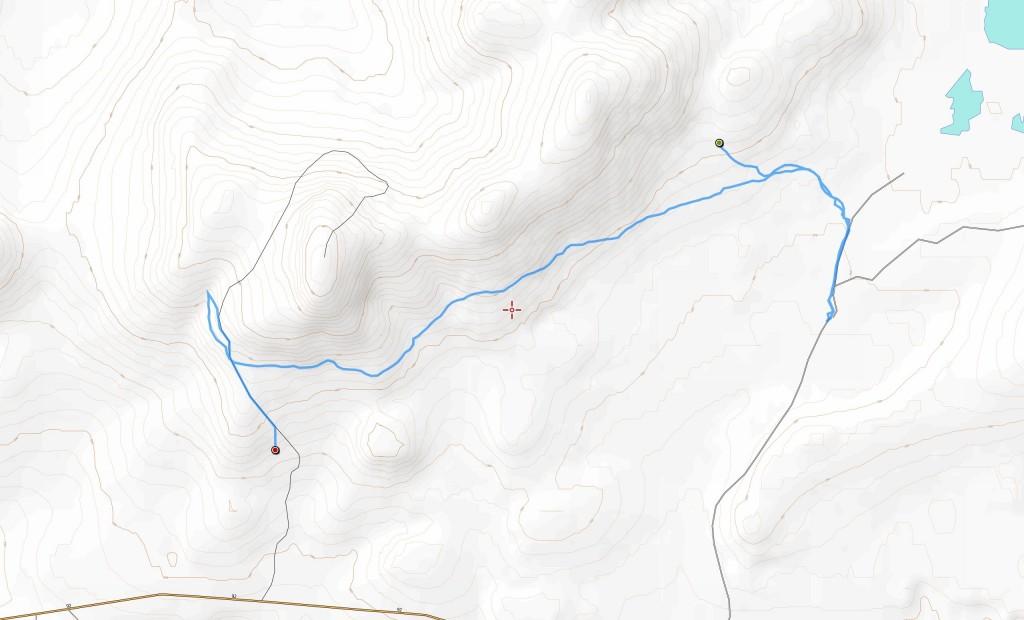Viidennen päivän reitti (11,5 km).