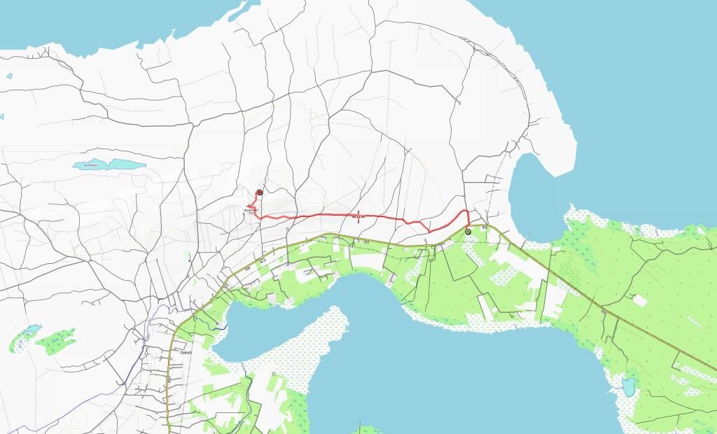 Ensimmäisen päivän reitti (4,2 km).