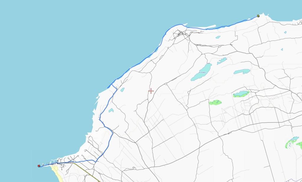Kolmannen päivän reitti (11,8 km).