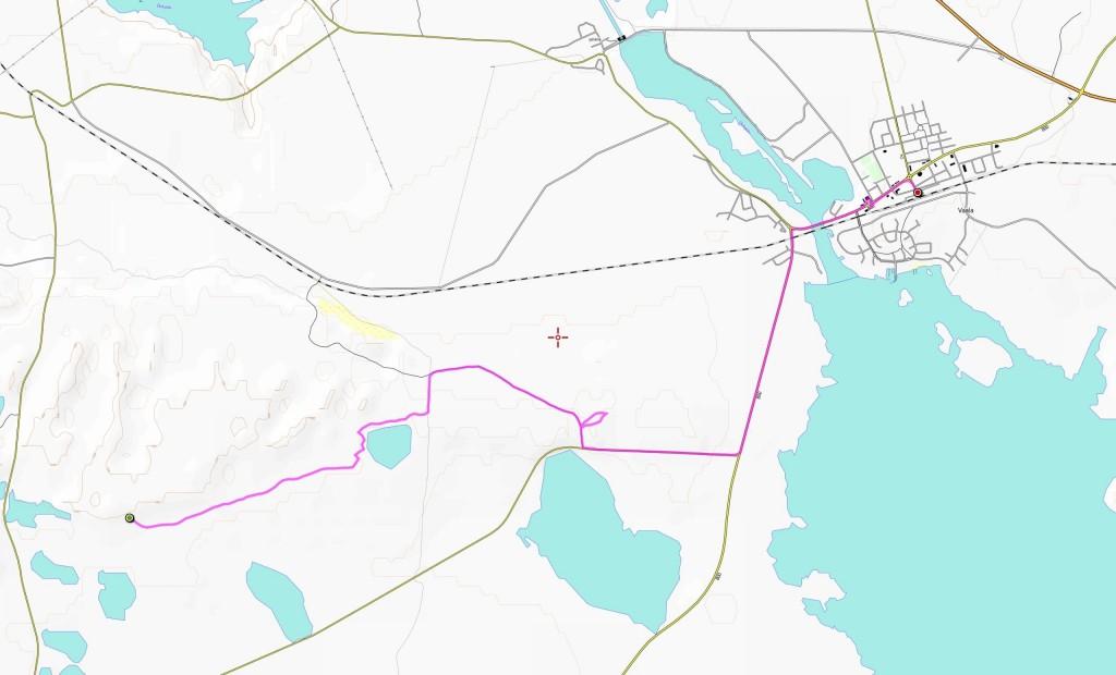 Sunnuntain reitti (11,8 km).
