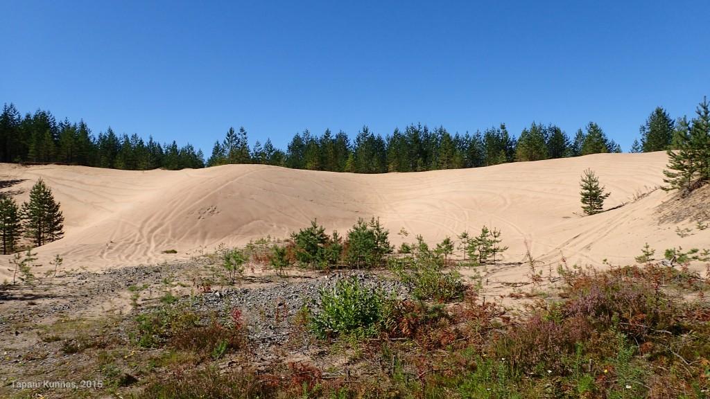 Hiekkakuopat eivät ole varsinainen maiseman kaunistus, mutta ymmärrän hyvin, että näin tasalaatuinen hiekka halutaan hyötykäyttöön.