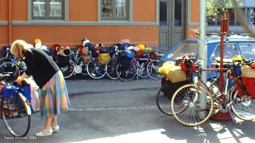 Trondheimissa on muitakin pyöräretkeilijöitä.