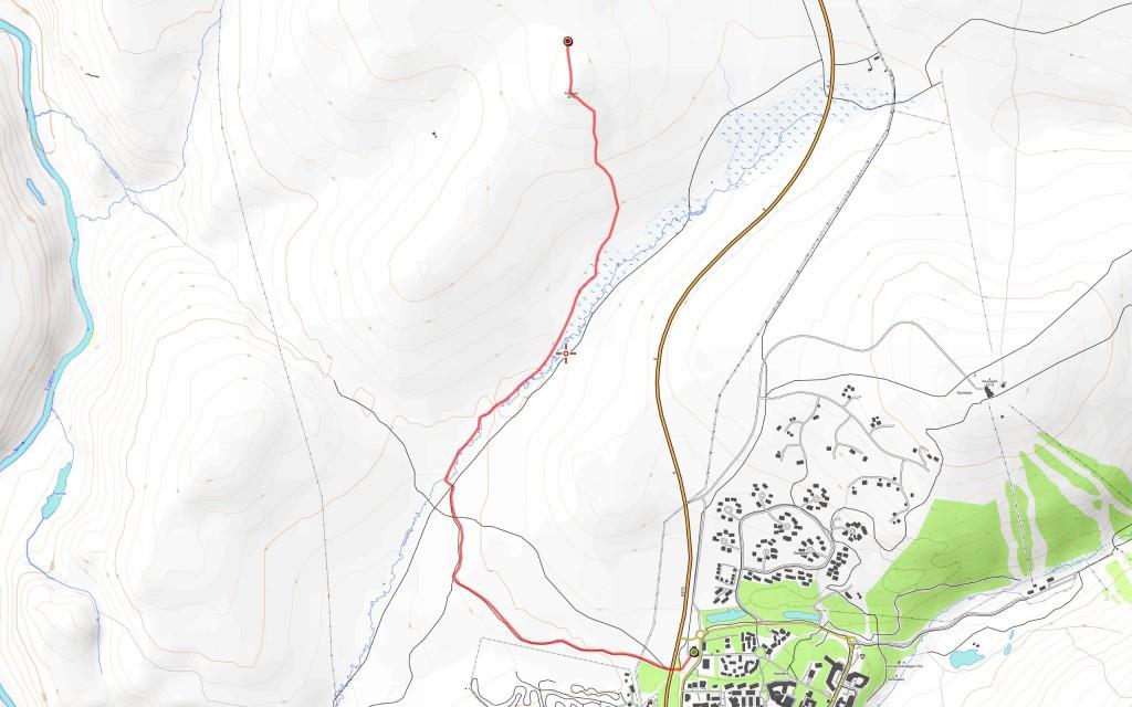 Ensimmäisen päivän reitti (4,4 km).