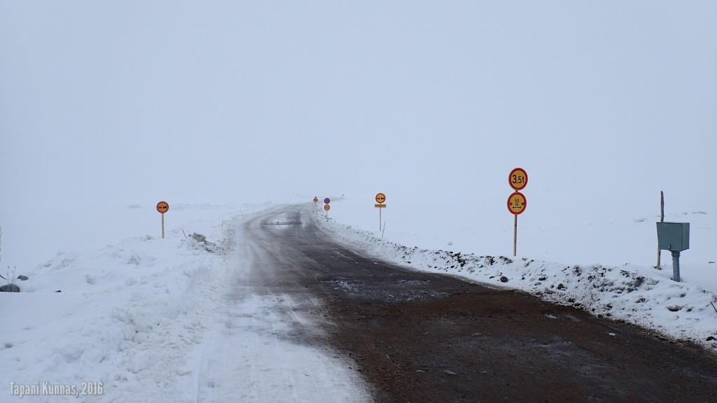 Jäätien alku Oulunsalossa.