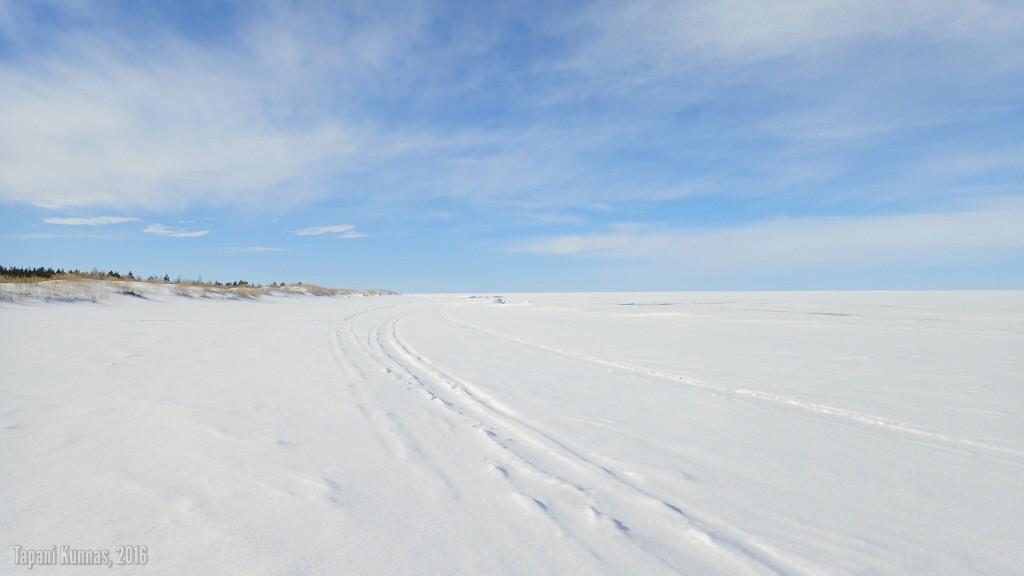 Olosuhteet jäällä eivät voisi juuri paremmat olla.