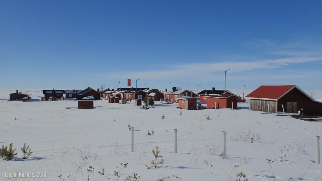 Talvinen Marjaniemi on kaunis ja unelias.