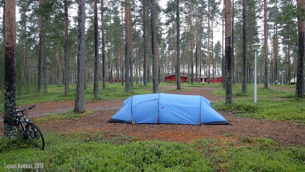 Viimeisen yön leiri vanhalla leirintäalueella.