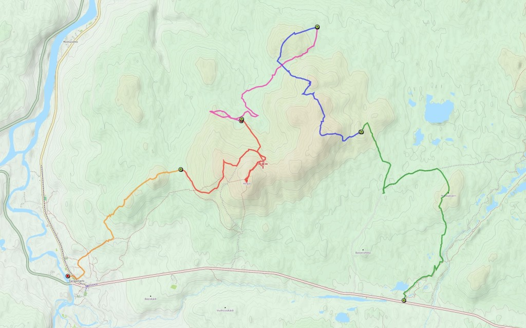 Viidennen  päivän reitti (6,4 km) aiempien jatkona.