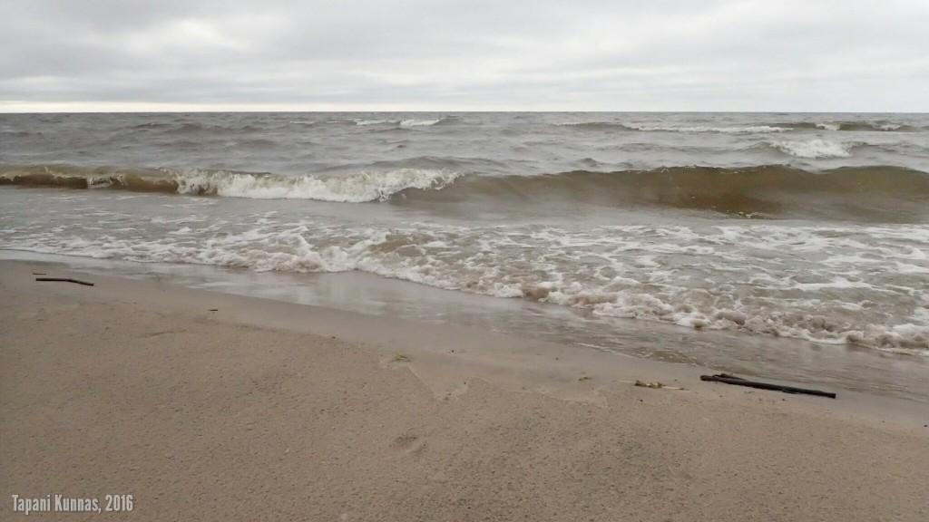 Voimistuva tuuli nostaa merelle ihan kunnon aallot.
