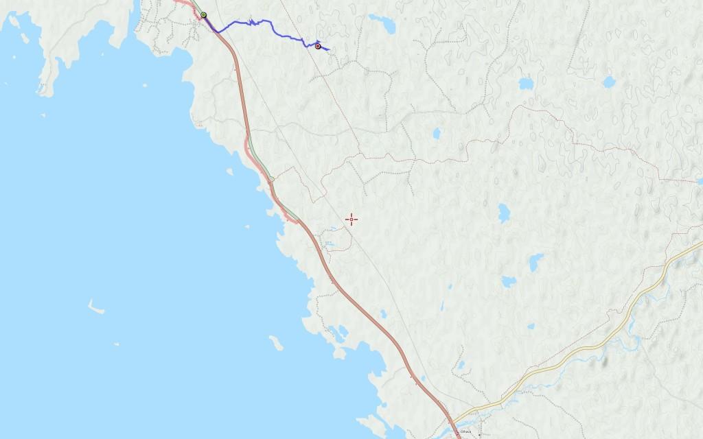 Perjantain reitti (5,7 km).