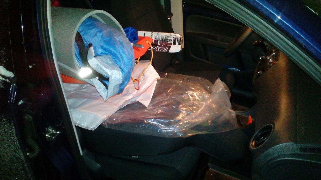 Uusi autoni on pieni, mutta siihen mahtuu paljon tavaraa sisälle. Autossa on alas taittuva etumatkustajan selkänoja, minkä ansiosta pitkätkin esineet kuten sukset ja ahkio mahtuvat sisälle.