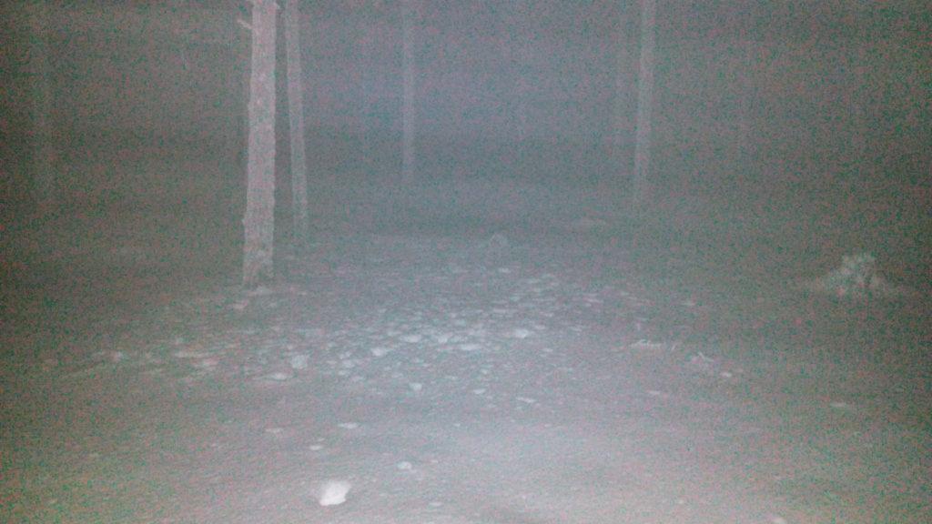 Ensin laskeutuu pimeys, ja sitten maastoon leviää sakea sumu.
